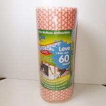 60 Panos Multiuso Tipo Perfex 28 x 50 cm x 30m Econômico - Melhor Embalagens