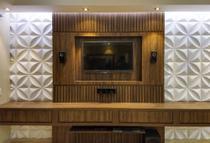 60 placas de pvc revestimento decorativo para parede - Vital Decor