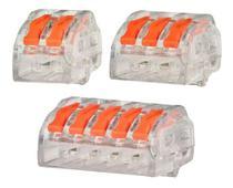 60 X Conector Tipo Wago 222 Borne Emenda Fios 2, 3 E 5 Vias - Con Fio