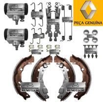 6001551413 - conjunto de lonas + 2 cilindros de freio traseiro + molas - 203mm - clio ii / sandero / logan / symbol - RENAULT GENUINA
