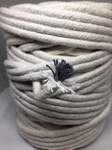 66 metros Corda Para Macrame Algodão Vivo Cru Com Alma 6mm - Mandala Equipamentos