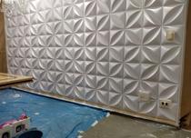 6M² placas para parede decorativas alto relevo pvc 3d - Vital Decor