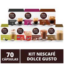 70 Capsulas Dolce Gusto, Capsula Café, Espresso, Nescau, Cappuccino, Chococino, Café Au Lait - Nescafé