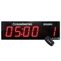 700.000655.000 - Cronômetro Digital Regressivo e Progressivo Multeletronic Com Controle Vermelho -