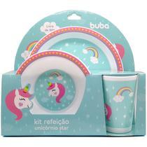 7533 - Kit Refeição Unicórnio Star Buba Toys Girl -