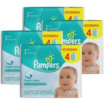 768 Lenços Umedecidos Pampers Fresh Clean -