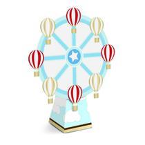 8 Caixas Mini Cone com Aplique Roda Decoração Festas - Cromus