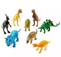 8 Dinossauro De Borracha Miniatura Brinquedo Jurassic - Art Toys