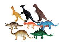 8 Dinossauro De Borracha Miniatura Brinquedo Jurassic - Ausini