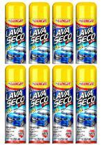 8 Lava Seco Spray Luxcar - Cera De Carnaúba Concentrada -