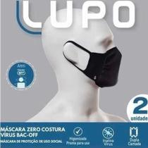 8 Máscaras Lupo Lavável Reutilizavel Não Descartável Oferta -