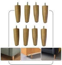 8 Pes de madeira Para Sofa 3 e 2 lugares 12 cm de altura - Rodrim