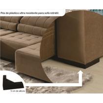 8 pés de plástico para sofá e moveis em geral 5 cm de altura - Rodrim