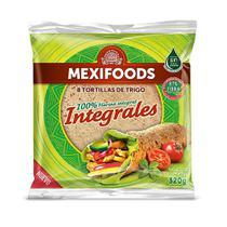 8 Tortillas de Trigo Integrais Mexifoods 320g -