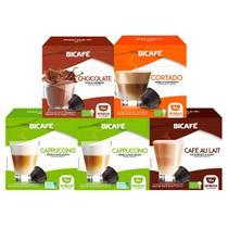 80 Cápsulas Para Dolce Gusto -  Kit Degustação - Cápsula Bicafé -
