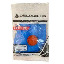 9 máscara respirador descartável pff1(s) com válvula pro agro wps1127 azul delta plus -