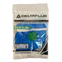 9 máscara respirador descartável pff3(s) com válvula pro agro wps1527 azul delta plus -