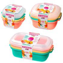 9 potes vasilhas para mantimentos 480ml 1100ml 1300ml para freezer microondas - Sanremo