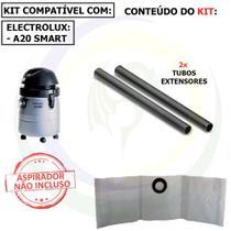 9 Saco + 2 Tubos Extensores para Aspirador de Pó Electrolux A20 Smart A20tb -