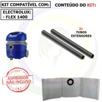 9 Saco + 2 Tubos Extensores para Aspirador de Pó Electrolux Flex Fltub -