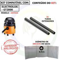 9 Saco + 2 Tubos Extensores para Aspirador de Pó Electrolux GT2000 Antigo -