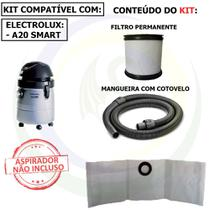 9 Saco + Mangueira + Filtro para Aspirador de Pó Electrolux A20 Smart A20mg -