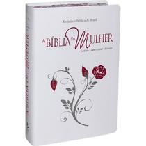 A Bíblia da Mulher  Leitura Devocional Estudo  Capa  Couro Luxo Bonded  Borda Florida  RA  SBB -