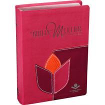 A Bíblia da Mulher Média Com Estudo e Devocional - Pink  SBB -