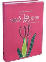 A Bíblia Da Mulher - RA - Grande - Goiaba, Orquídea Borda Florida - Editora Sbb -