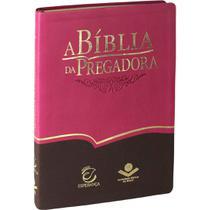 A Bíblia da Pregadora Rosa com Marrom RA + marca página - SBB