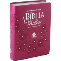 A Bíblia de Estudo Da Mulher  ARC  Capa Luxo Vinho com Pedras - Editora Sbb