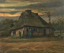 A Cabana (1885) - Vincent van Gogh - 75x91 - Tela Canvas Para Quadro - Santhatela