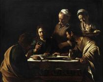 A Ceia em Emaús (1606) - Caravaggio - Tela 60x74 Para Quadro - Santhatela