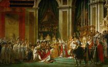 A Coroação de Napoleão (1807) - Jacques-Louis David - 50x79 - Tela Canvas Para Quadro - Santhatela