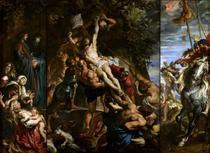 A Elevação da Cruz (Completo) - Peter Paul Rubens - 30x41 - Tela Canvas Para Quadro - Santhatela