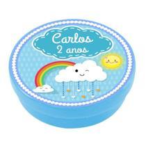 A1-Lembrancinha Latinha Chuva de Amor Azul - Vem festejar