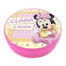 A1-Lembrancinha Latinha Disney Baby Minnie - Vem festejar