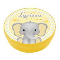 A1-Lembrancinha Latinha Elefantinho Personalizada - Vem festejar