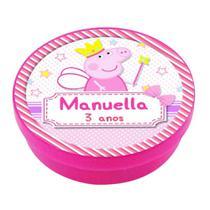 A1-Lembrancinha Latinha Peppa Pig Princesa - Vem festejar