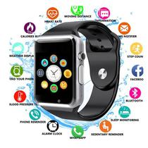A1 Relógio Smartwatch,  Android, Notificações Face e WhattsApp Bluetooth  Camera - Smart watch