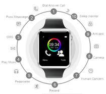 A1 Relógio Smartwatch Android, WhatsApp e Face  Camera, Bluetooth - Smart watch