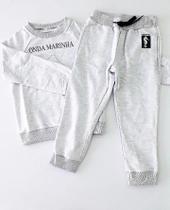 A221 conjunto blusao e calca infantil teen onda m - Onda Marinha