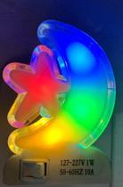 Abajur de Tomada Mini Luminária Led lua Bivolt - Art House -