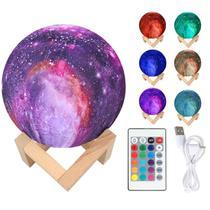 Abajur Galaxia luminária 16 cores recarregavel Touch - Moon Light