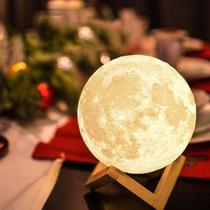 Abajur lua cheia 3d usb luminária touch 15cm colorida led - Bstore