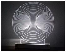 Abajur / Luminária De Mesa Em Acrílico Com Led Túnel 3d - Decoramix