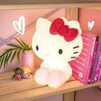 Abajur Luminária Infantil Bivolt Led Hello Kitty - Branco - Mega