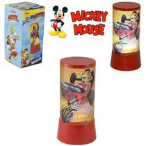 Abajur Luminaria Infantil De Led A Pilha Mickey - Etilux