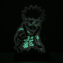 Abajur Luminária Led Em Acrílico Naruto Quarto - Tecnotronics