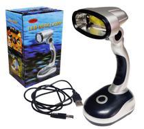 Abajur Luminária Luz Led Led Flexivel Mesa Leitura Lanterna - Cftong